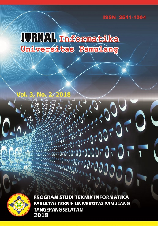 Jurnal Informatika Universitas Pamulang Vol. 3 No. 2 Juni 2018