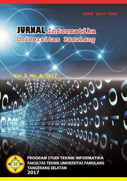 Jurnal Informatika Universitas Pamulang Vol. 2 No. 4 Desember 2017