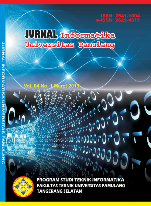 Jurnal Informatika Universitas Pamulang Vol. 4 No. 1 Maret 2019