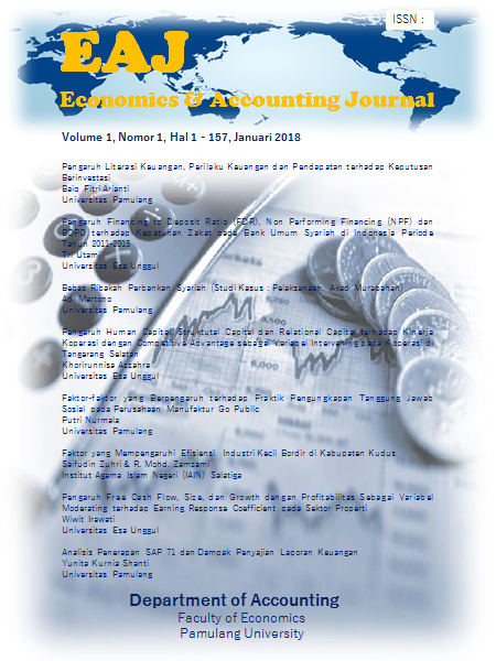 Cover EAJ S1 Accounting Department Universitas Pamulang