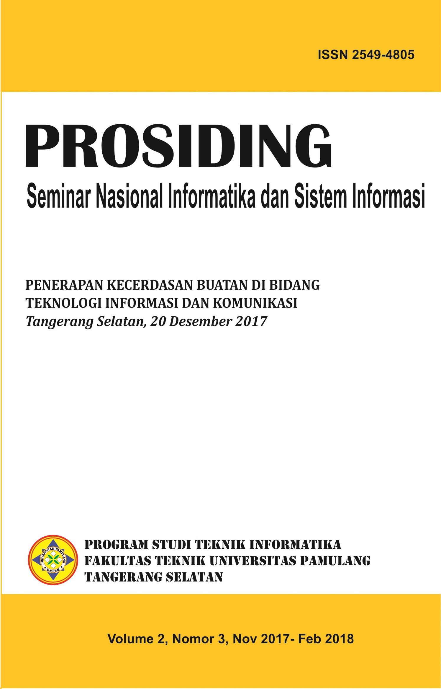 Vol. 2 No.3 : Penerapan Kecerdasan Buatan di Bidang Teknologi Informasi dan Komunikasi