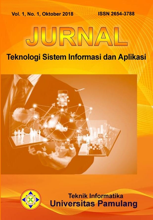Jurnal Teknologi Sistem Informasi dan Aplikasi Vol. 1, No. 1, Oktober 2018