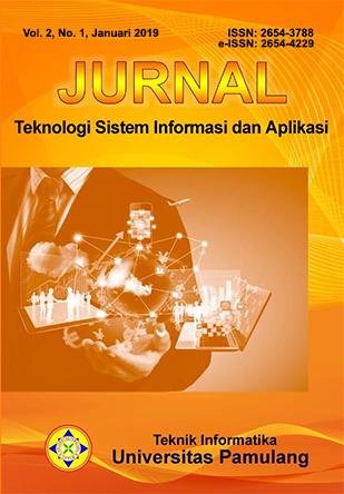 Jurnal Teknologi Sistem Informasi dan Aplikasi Vol. 2 No. 1 Januari 2019